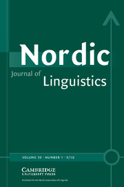 NordicJournalOfLinguistics